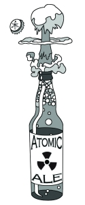 A true bottle of Atomic Ale. Illustration by Micah Rauch