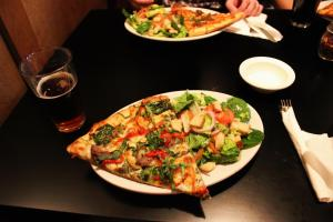 Craft beer and craft pizza. Photo by Brent Zundel