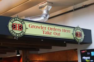 The sign above Bridger Brewing's bar. Photo by Brent Zundel