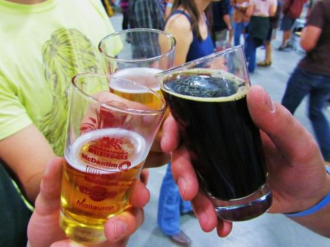 Local beers at the Brewers' Festival. Photo by Brent Zundel