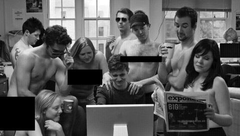 A recent casual Friday at the MSU Exponent spiraled out of control, with staff members ending up completely naked. Photo by Matt Williams, editing by Eric Dietrich