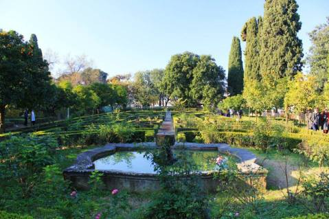 The gardens atop Palatino Hill