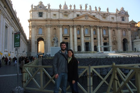 Amanda and I in front of St. Peter's Basilica.