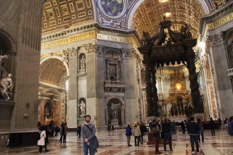 Inside St. Peter's.