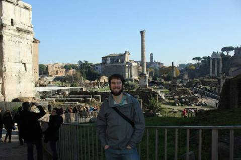 In the Roman Forum.