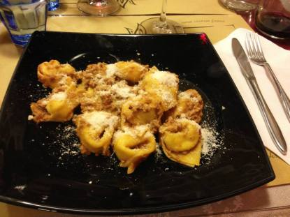 Tortellini in bolognese sauce.