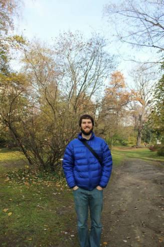 At the university botanical gardens.