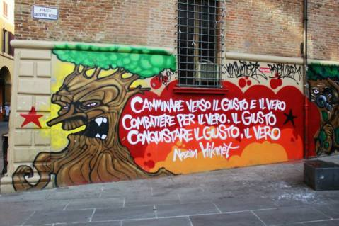 Graffiti on campus.