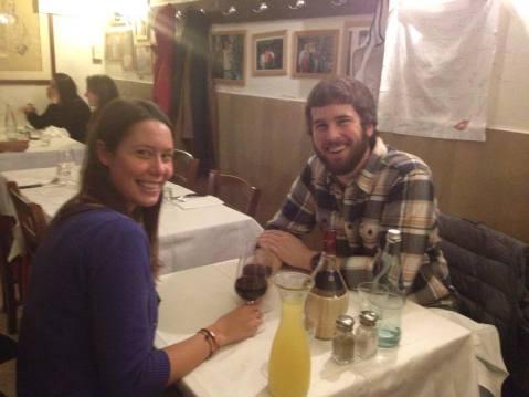 Our four-year anniversary dinner at Trattoria da Tito.