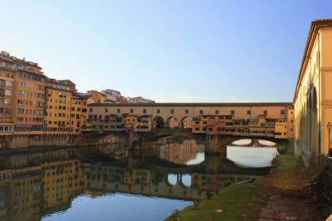 The Ponte Vecchio, the only bridge in Florence to survive World War II.