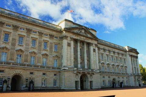Buckingham Palace, where the Queen runs the country using a panel of buttons and levers.