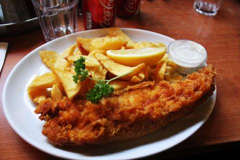 The English conquered a vast empire eating nothing but fish and chips.