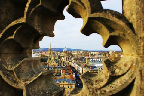 A view of Oxford from the Magdalen College Tower.