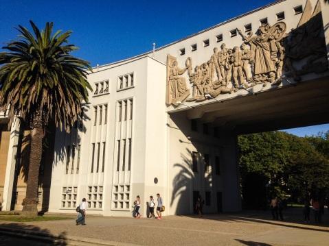 The entrance to the University of Concepción.
