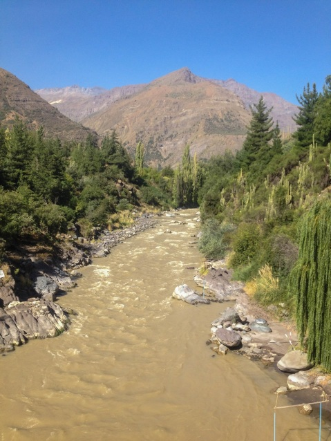 The Maipo River in the canyon.